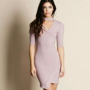 Dresses & Skirts - Ribbed Choker Cut Out Dress